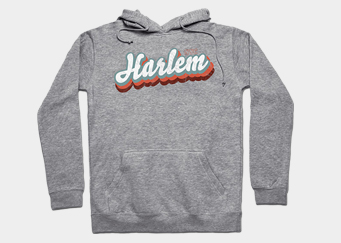 HOODIE with harlem logo feat